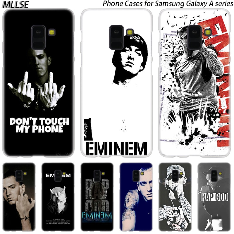 MLLSE hip hop rapero Eminem rap duro funda para Samsung Galaxy A10 A20 A30 A40 A50 A70 A20E A2 CORE M10 M20 M30 moda novedosa cubierta