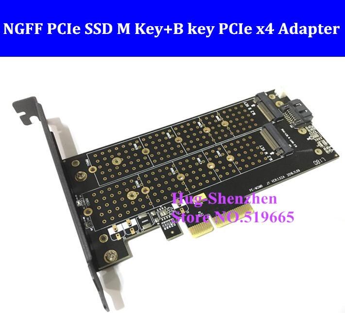 M.2 ngff pcie ssd m chave + b chave pcie x4 adaptador para apple mac pro 3,1-5,1 para sm951 m6e