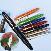 JINHAO 159 18KGP 0,7 мм, перо с широким основанием, перьевая ручка, Бесплатная черная ручка, сумка, 8 видов цветов на выбор