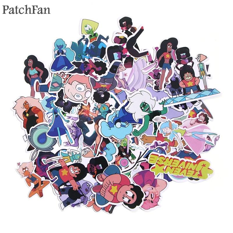 Patchfan 60pcs Universe boy Kids Toy Sticker for DIY scrapbooking album Laptop Phone notebook decals Waterproof Sticker A1290