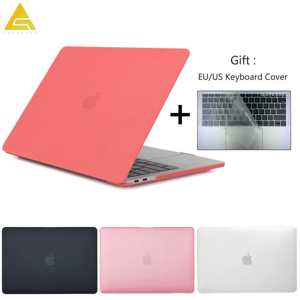 Матовый Прозрачный чехол для ноутбука Macbook Air 11 Retina 12 Pro 13 15, чехол с touch ID для mac book New Air 13 2018, чехол A1932