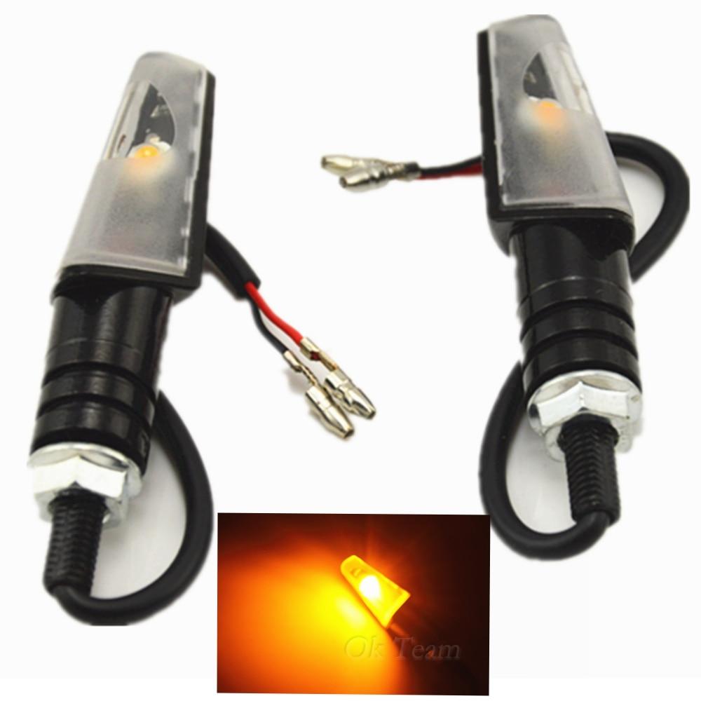 2 шт. 12В универсальный мотоцикл LED SMD поворотные сигнальные индикаторы мигалка янтарный свет вспышка велосипед разбитая Лампа Металл