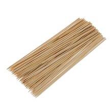 Bâtonnets de Barbecue en bambou   En bois, pour le Camping, brochette de Barbecue, Shish Kabob, 95 pièces