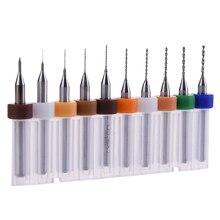 10 pièces En Carbure Forets PCB Circuit Imprimé Mini Foret Ensemble 0.1mm-1.0mm Pour La CARTE PCB
