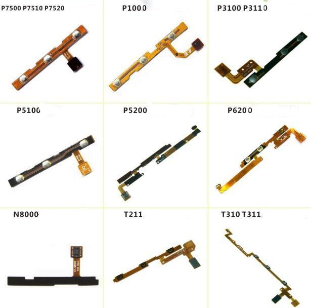 Novo Volume de Energia Cabo Flex Para O Samsung P3110 T310T211 P5200 P7500 P1000 P5100 N8000 P6200 P3100 Side Botão Chave Flex cabo