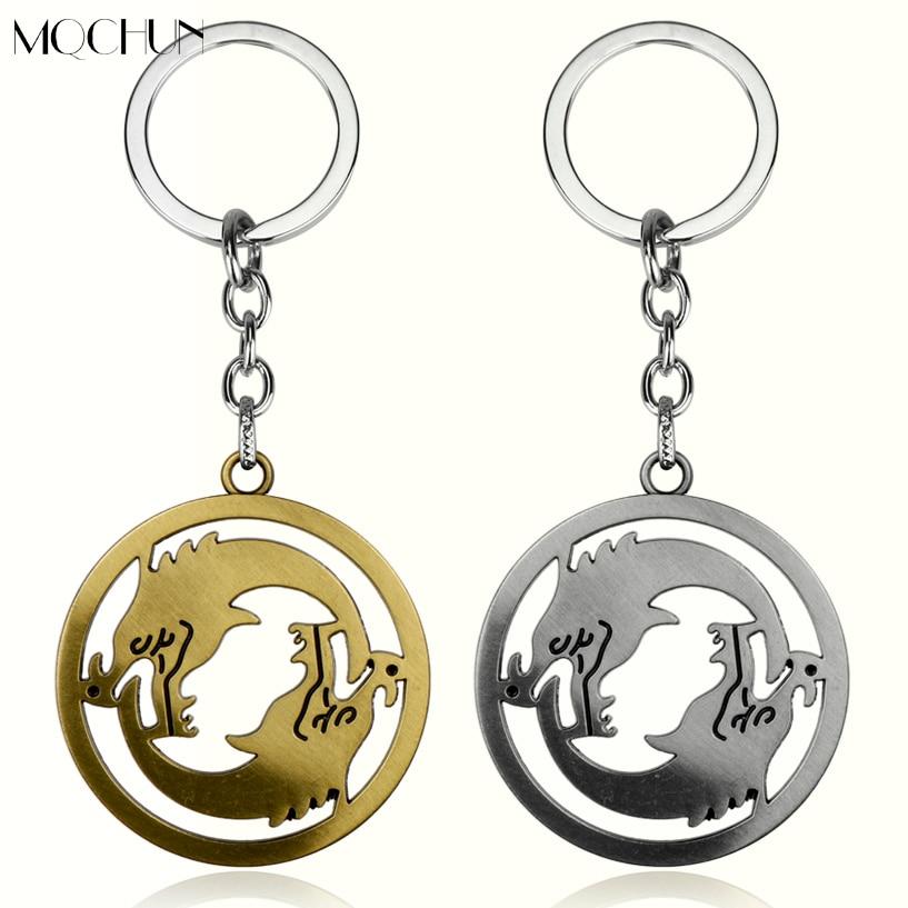 Ювелирные изделия mqchun, подарок для фанатов, мужские аксессуары для автомобильных ключей, рождественские украшения, более двух волков вокру...