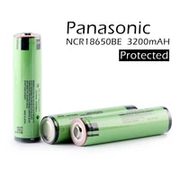 2pcslot original panasonic protected 18650 ncr18650be 3200mah 3 7v rechargeable battery lithium batteries for e cigs with pcb