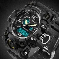 Часы наручные мужские в стиле G Style SANDA, спортивные брендовые светодиодный шные светодиодные цифровые в стиле милитари, противоударные, 742