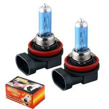2 шт. H8 супер яркий белый противотуманный светильник s галогенные лампы высокой мощности 35 Вт автомобильный головной светильник 12 в автомобильный Стайлинг автомобильный светильник источник парковки