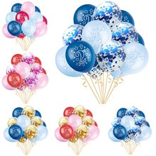 15 unids/set 2 estrellas globos de latex efecto perla globos de aire de confeti bebé niño niña 2 años de edad cumpleaños fiesta aniversario decoraciones