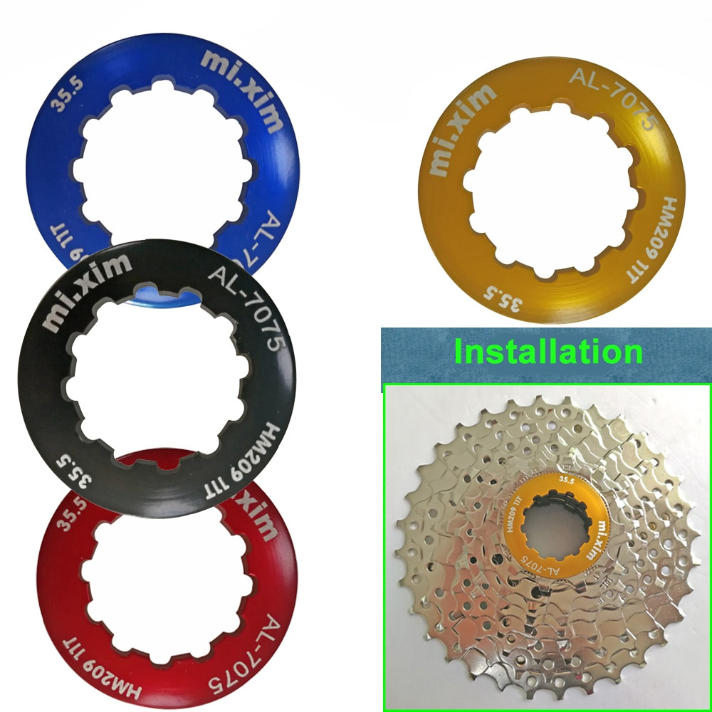 MTB Road Folding Bicycle Cassette Lock Cover Ultra Light Aluminum Alloy Bike Road Card Lock Flywheel Ring Lock Cover 4 Color