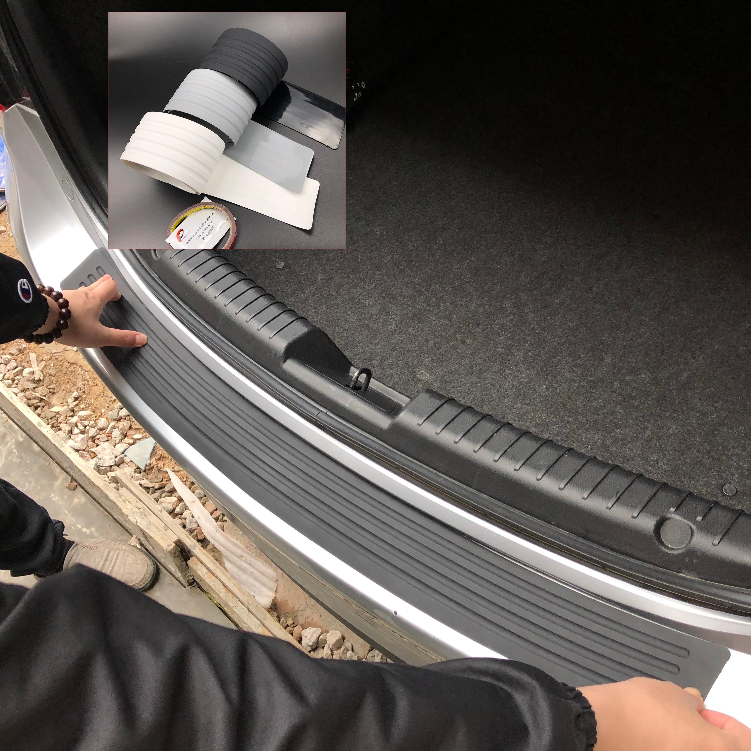 Cubierta protectora de desgaste de parachoques trasero de coche para Hyundai SantaFe Veracruz Mistra Tucson Veloster Rohens AZERA Avante IONIQ