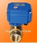 G1'' CWX Motorized Ball Valve For Water Treatment CR03 or CR04 Control 5V,12V or 9-24V