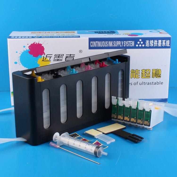 Sistema de suministro Continuo de Tinta Universal de 6 colores Kit CISS con accesorios completos tanque de tinta para impresora EPSON 1400 1430 P50 791R