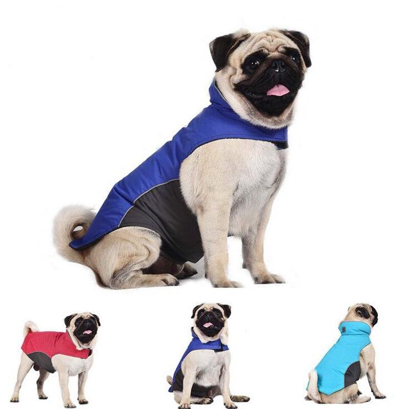 Chaqueta de Alaska ropa de abrigo de invierno perro mascota poliéster-forro polar ropa deportiva al aire libre impermeable para pequeños perros Pug grandes