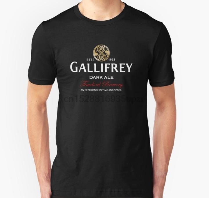 Men Short sleeve tshirt Gallifrey Dark Ale  Unisex T Shirt Women t-shirt