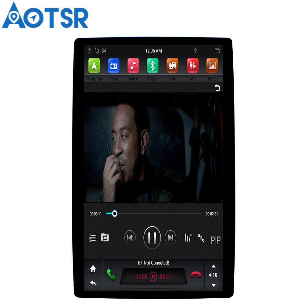 "Aotsr 12,8 ""Tesla Vertical pantalla Android 8,1 universal car radio multimedia sin reproductor de DVD para Toyota/Nissan/Suzuki/Lexus"
