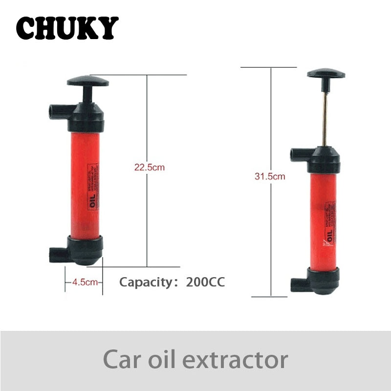 CHUKY tubo de succión de gasolina portátil de coche bomba de aceite Manual Dispositivo de succión para Nissan Juke Tiida Subaru Ford mondeo mk4 mk3