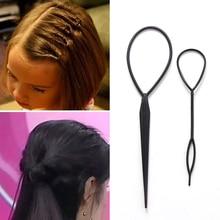 2PCS/Lot Fashion Colorful DIY Hair Styling Headbands For Girls Hair Pin Disk Pull Pins Hair Bands Headwear Kids Hair Accessories