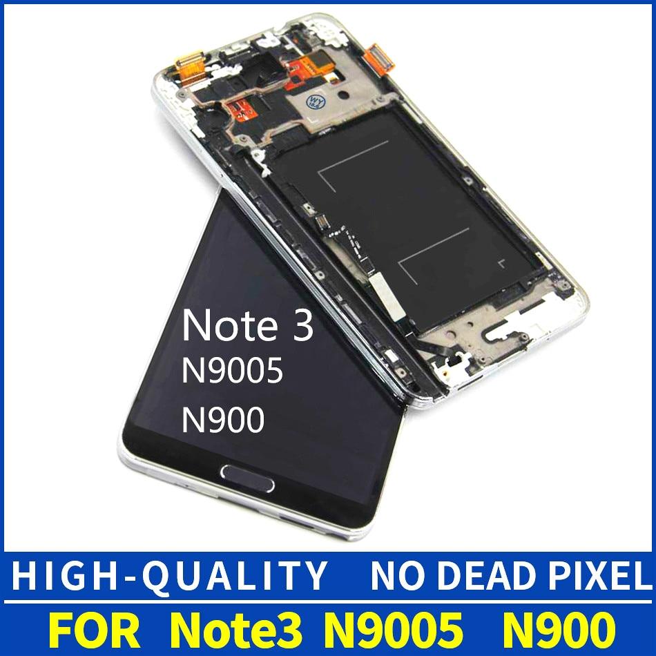 Para Samsung Galaxy Note3 N9005 pantalla LCD con digitalizador táctil montaje reemplazo nota 3 N9005 con marco biselado