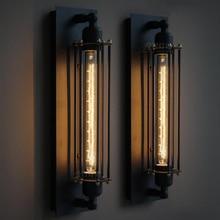 Korytarz E27 Retro ściana światło kryty przemysłowe światło 220V Vintage kinkiet z wolframem na korytarz balkon galeria kawy
