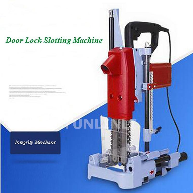 Wooden Door Lock Slotting Machine Drilling Square Hole Mounting Door Lock Woodworking Drilling Machine MIK-1