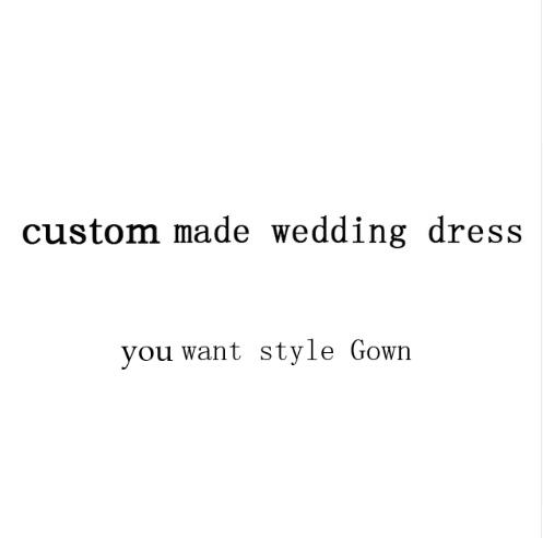 Custom made wedding dress or prom dress or other style you want