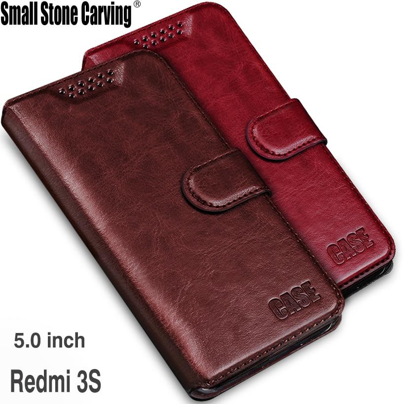 Para Xiaomi Redmi 3 S funda Redmi 3 Pro 3 S funda abatible de silicona cartera + soporte Funda de cuero para Xiaomi Redmi 3 S Prime 3 S Pro 3