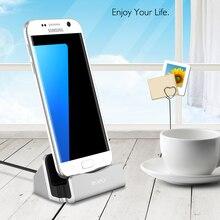 RAXFLY Mini Micro prise support de charge pour Samsung Galaxy S6 s7 Edge S5 Note 3 4 5 J3 j5 j7J1 2017 universel Destop support de support