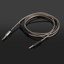 Silver Plated Audio Cable with Mic For Sennheiser HD570 HD590 HD500 HD210 200 HD270 HD490 EH2200 EH22700 HD500A HEADPHONE