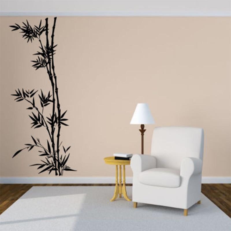 Novos Detalhes sobre Room Decor Art Vinyl Decal Adesivo de Parede Árvore De Bambu Mato Floresta Grande Grande