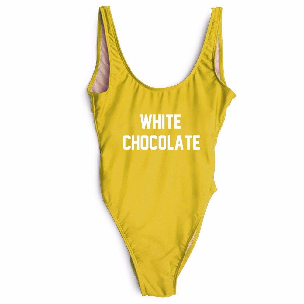 summer fashion WHITE CHOCOLATE custom swimsuits female bodysuit bathing suits beachwear swimwear  suit for women/girls