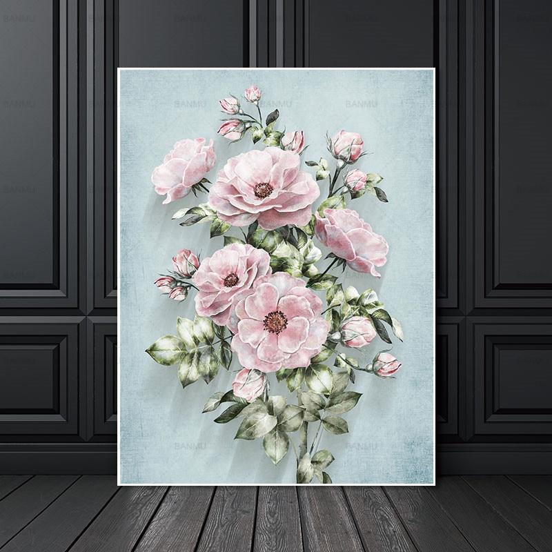 Настенный плакат, холст, картины, абстрактная живопись, художественные принты, цветы на холсте, украшение для дома для гостиной
