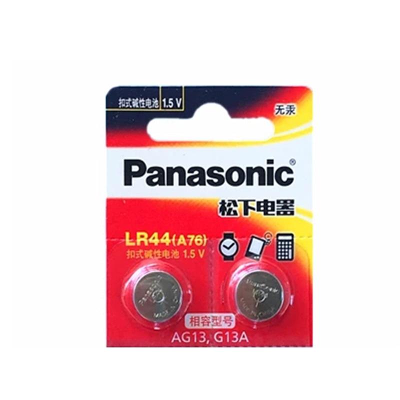 2 uds PANASONIC LR44 A76 AG13 0% Hg SR1154 357 LR 44 1,5 V batería de baterías para la calculadora 0% Hg