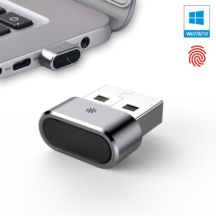 Kercan KE-02 de aluminio Mini USB lector de huellas dactilares para Windows 7 8 10 Hola 360 Touch de biométricos fido clave de seguridad