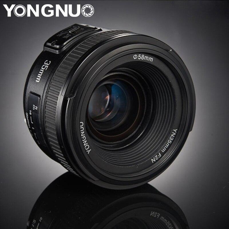 YONGNUO YN35mm lenzen F2.0 AF/MF Vaste Focus F1.8 Lens voor Canon Nikon D800 D300 D700 D3200 D3300 D5100 d5200 voor DSLR Camera