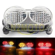 LED kuyruk işık dönüş sinyali ile Kawasaki ZX-6R ZX-900 ZX-9R ZZR600 ZR7S 1998-2007 şeffaf