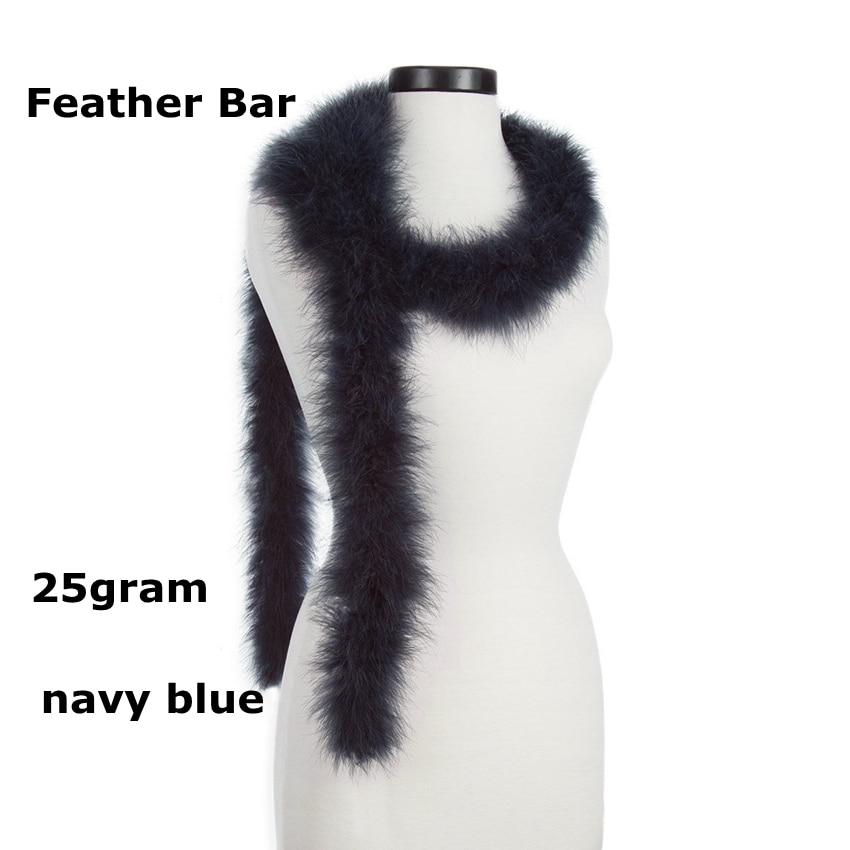 """Envío Gratis 200cm (79 """") tira de plumas de pollo azul marino 25 gramos boda marabú pluma Boas Turquía pluma Boa diy carnaval dec"""