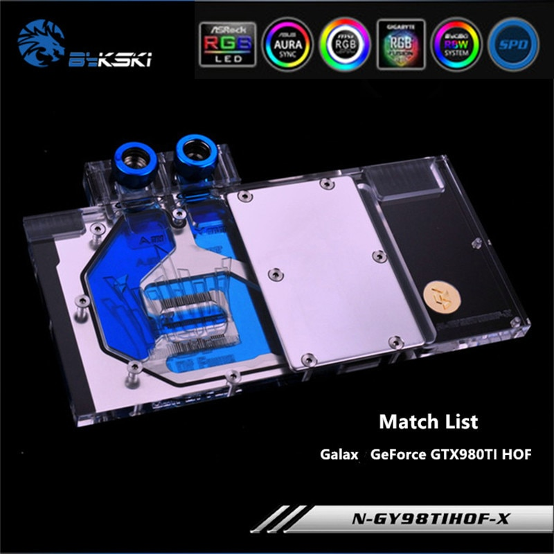Bykski N-GY98TIHOF-X Full Cover GPU Water Block For VGA GALAX GeForce GTX980TI HOF Graphics Card Heat sink
