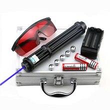 High Power 1.6.w Verlängern Blaue Laser-Pointer 450nm Lazer anblick Taschenlampe Brennen Spiel/Brennen licht zigarren/kerze/ jagd