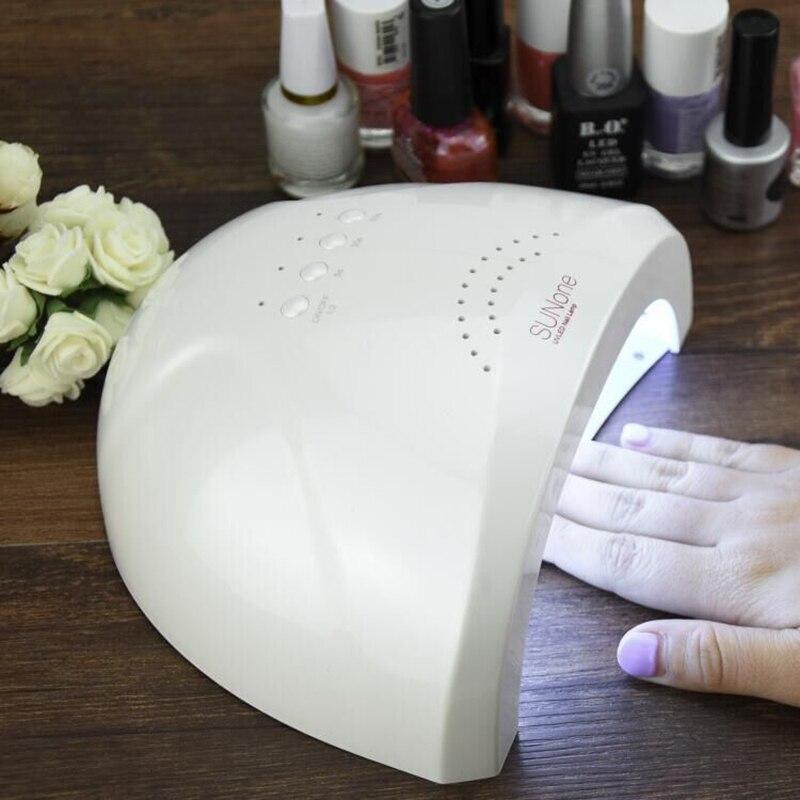 SUNUV-secador de uñas para manicura profesional, lámpara SUNONE LED UV de 48W, barniz de Gel para secado de esmalte de uñas