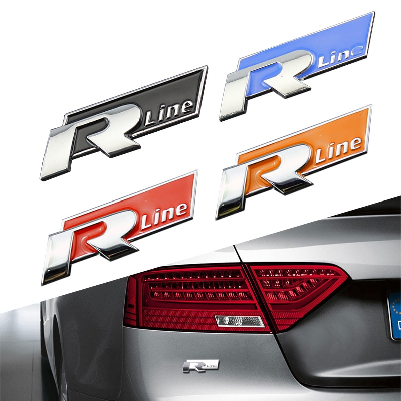 Автомобили Для Rline изменение металла наклейки автомобиля R линии интимные