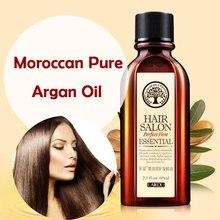 LAIKOU 60ml fas saf Argan yağı saç uçucu yağ saç ve saç derisi tedavisi tedavisi kuru saç nemlendirici yumuşak parlak saç