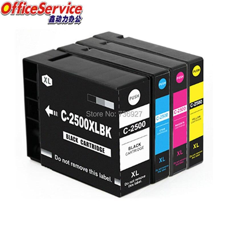 Cartucho de tinta Compatible para PGI-2500 PGI2500 2500xl para Canon MAXIFY IB4050 MB5050 MB5350 MB5150 MB5450 IB4150 impresora