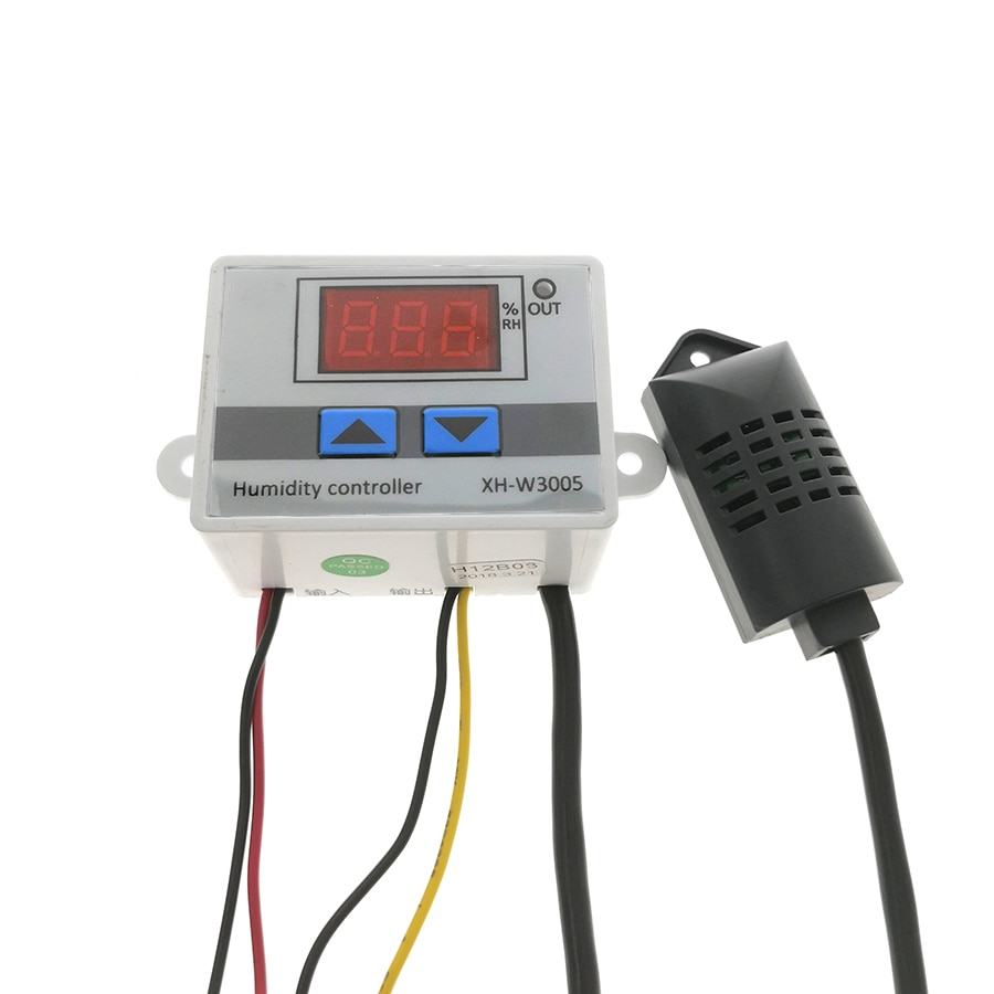 Цифровой регулятор влажности, 12 В, 24 В, 220 В, гигростат, гигрометр, переключатель контроля влажности, Регулятор 0 ~ 99% относительной влажности + ...