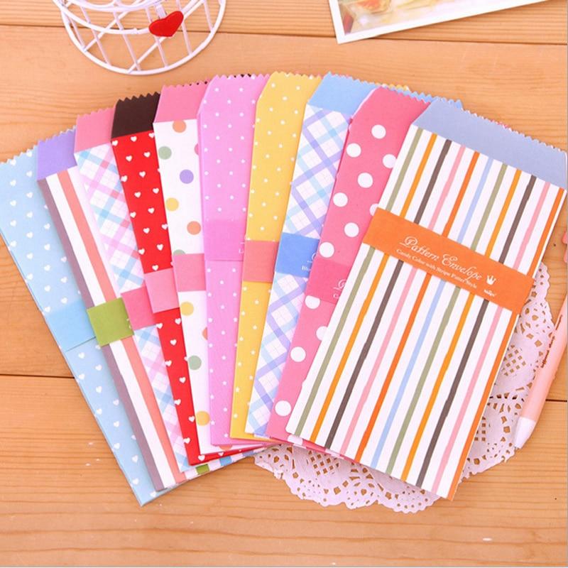 20 uds/lote Sobres de papel coloridos Kawaii Mini sobres de estilo tarjeta Scrapbooking regalo envío gratis material de oficina escolar