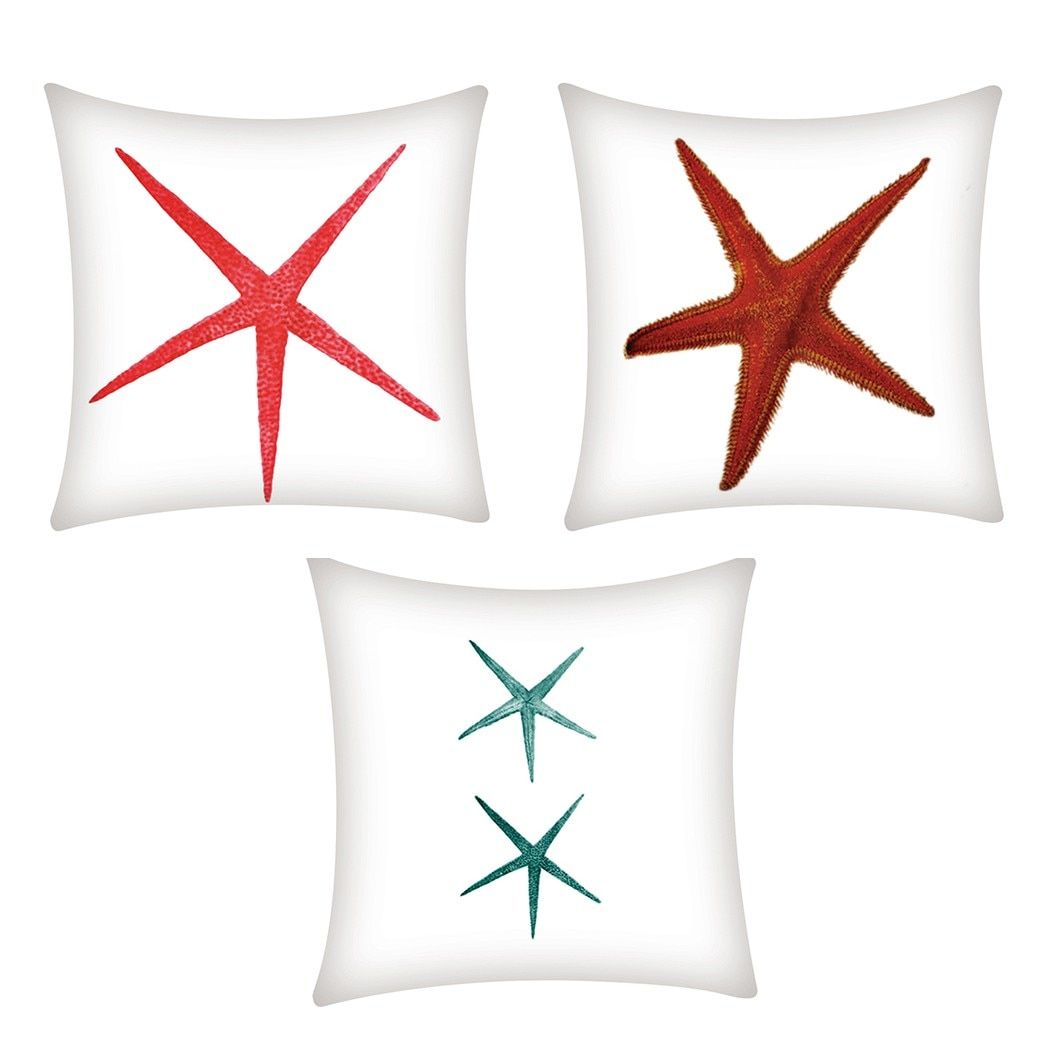 1PC estrella patrón de impresión funda de almohada de fibra de poliéster cojín de sofá coche decoración del hogar 45*45 cm, L605