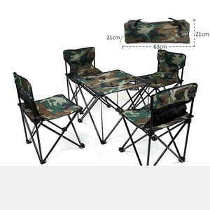 Outdoor Picnic Set Portable Folding Tables and Chairs for Camping  Folding Table and Chair Set Foldable Aluminum Table