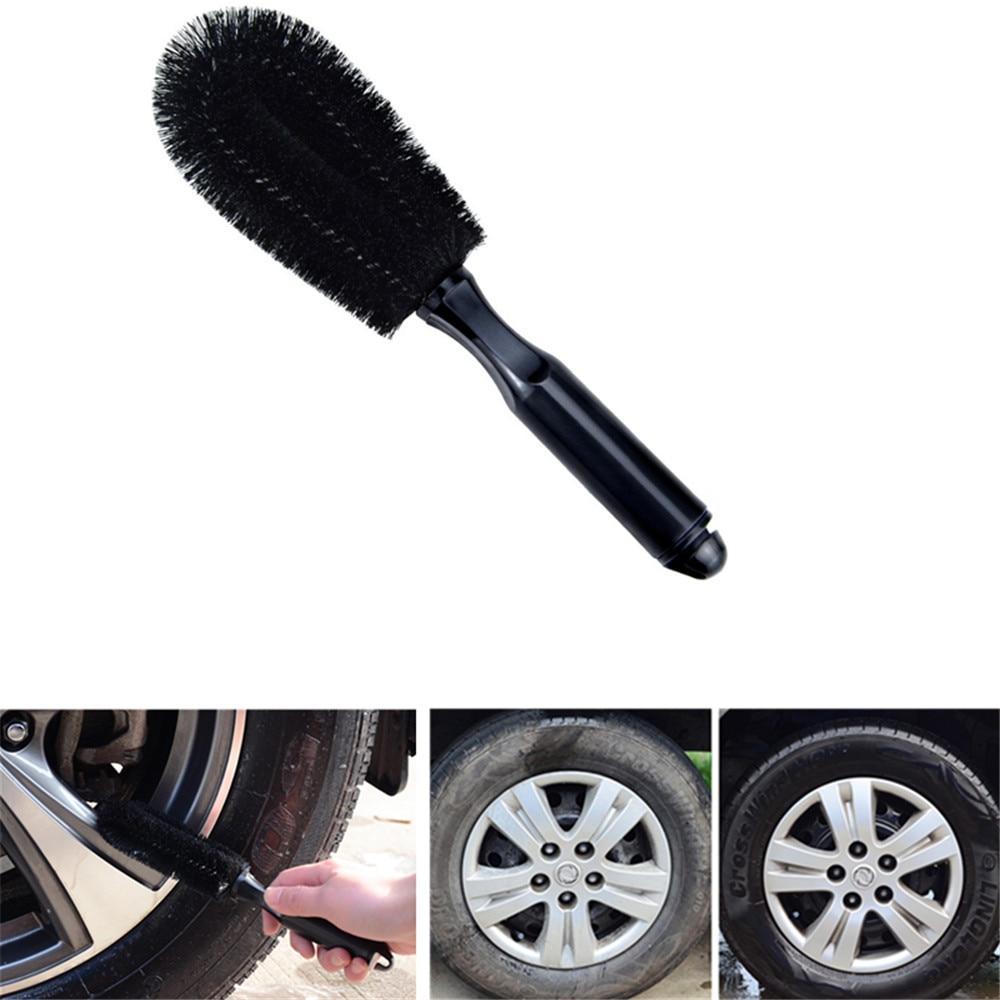 1Pcs Vehicle Wheel Brush Washing Car Tire Rim Cleaning Handle Brush Tool for Car Truck Motorcycle Bicycle Auto Car Brush Tool