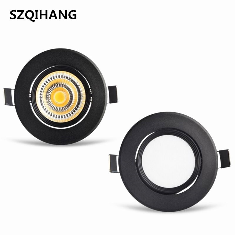 Wholesale price 7W/10W/15W/20W Recessed COB led down light Dimmable Adjustable Clear/Frosted Cover Led Ceiling Downlight